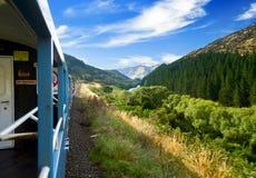 Scenic railway journey Stock Image