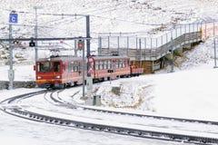Scenic railway in switzerland stock photo