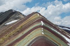Vinicunca Rainbow Mountain royalty free stock images