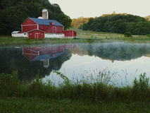 Scenic Red Barn royalty free stock image