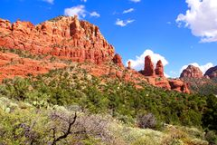 Scenic red rock landscape, Sedona Royalty Free Stock Image
