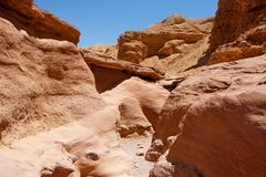 Scenic red rocks in Red Canyon. Israel Stock Photos
