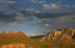 Scenic red sandstone evening sunset at sedona, az Royalty Free Stock Photos