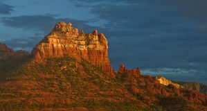 Scenic red sandstone evening sunset at sedona, az Stock Photography