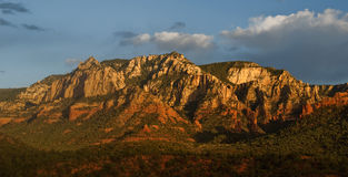 Scenic red sandstone evening sunset at sedona, az Stock Images
