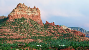 Scenic red sandstone evening sunset at sedona, az Royalty Free Stock Images