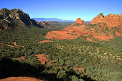 Scenic red stone landscape of sedona, in arizona. Photo scenic red stone landscape of sedona, in arizona Royalty Free Stock Image