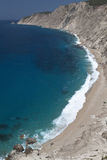 Scenic remote beach in Greece Royalty Free Stock Photo