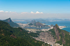 Scenic Rio de Janeiro Aerial View royalty free stock photos
