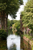 Scenic river in countryside Royalty Free Stock Photo