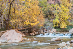 Scenic River in Fall Stock Photos