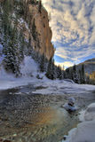Scenic river in winter royalty free stock images