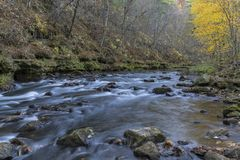 Whitewater River In Autumn Stock Image