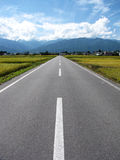 Scenic Road 2. Photo of a scenic road in Japan Royalty Free Stock Photos
