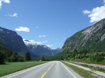 Scenic road. In Romsdalen Norway royalty free stock images
