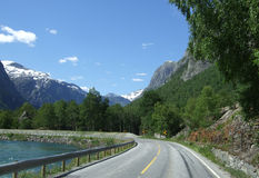 Scenic road. In Romsdalen Norway royalty free stock photo
