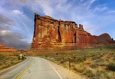 Scenic Road, Arches National Park, Utah Royalty Free Stock Images