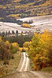 Scenic road in autumn Royalty Free Stock Photos