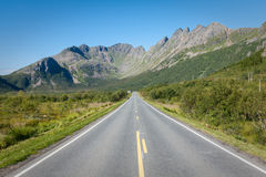 Scenic road and beautiful mountains in Norway Stock Photography