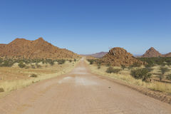 The scenic road C35  in Damaraland, Namibia Royalty Free Stock Image