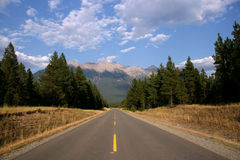 Scenic road in Canada stock photos