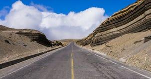 Scenic road in Chimborazo national park, Ecuador. Scenic road on the foots of Chimborazo national park, Ecuador Stock Images