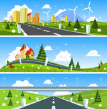 Scenic road through the countryside Royalty Free Stock Image