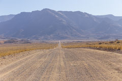 The scenic road in Damaraland, Namibia Royalty Free Stock Photos