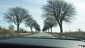 Scenic road in Denmark Stock Image