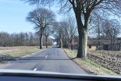 Scenic road in Denmark Stock Photos