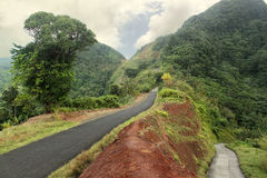 Scenic road in Dominica, Caribbean islands Stock Photography