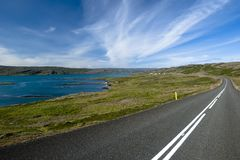 Scenic road on Iceland Stock Photo