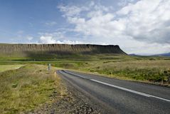 Scenic road on Iceland. On beautiful weather Royalty Free Stock Images