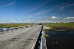 Scenic road on Iceland. On beautiful weather Stock Photo