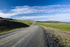 Scenic road on Iceland. On beautiful weather Stock Image