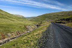 Scenic road on Iceland. On beautiful weather Stock Photos