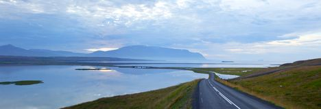 Scenic road on iceland Stock Images