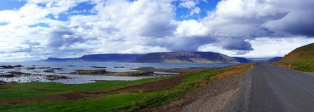Scenic road on iceland Royalty Free Stock Photography