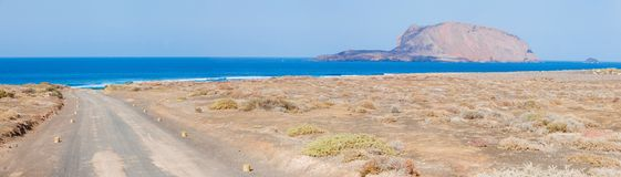 Scenic road on the island Lanzarote Stock Image
