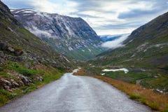 Scenic road Jostedalen valley Luster Sogn og Fjordane Norway Scandinavia royalty free stock photography