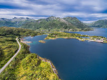 Scenic road on Lofoten islands Royalty Free Stock Images