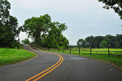 Scenic Road in Maryland Royalty Free Stock Photos