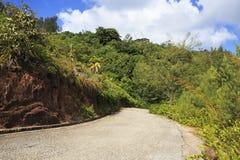 Scenic road on Mount Zimbvabve Royalty Free Stock Photography