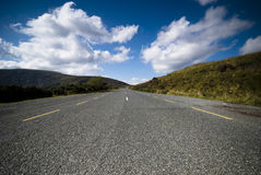 Scenic road in the mountains royalty free stock photography