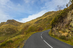 Scenic Road in Mountains Stock Image