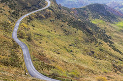 Scenic Road in Mountains Royalty Free Stock Image