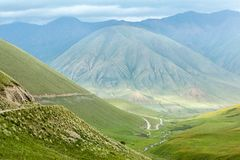 Scenic road in mountains Stock Photo
