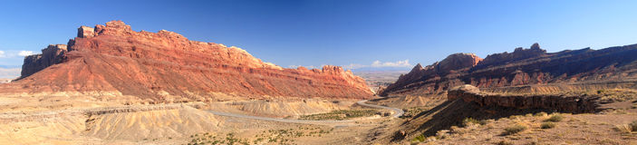 Scenic road in Nevada in the Valley of Fire area Royalty Free Stock Images