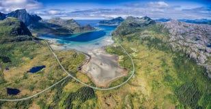Scenic road panorama Stock Photo