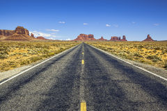 Scenic road to Monument Valley Stock Photos
